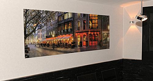 Premium Acrylglas, an der Wand