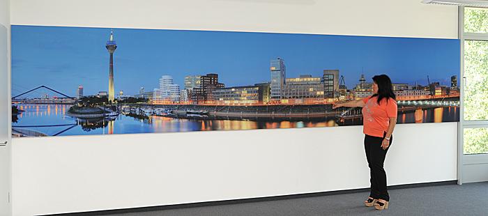 Mega Panorama von Düsseldorf, in 6,25 Meter breite